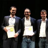 prix eco.ch Gewinner Generation Zukunft - zwei erste Plätze (links SwissShrimp, rechts HORIZON)